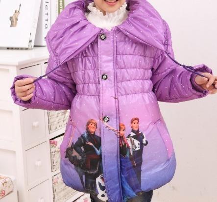 Jaqueta Infantil Casaco Blusa De Frio Sobretudo Frozen Ana