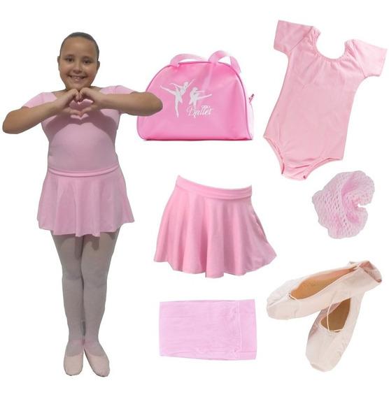 Roupa De Ballet Completa, C/ Bolsa Body Regata