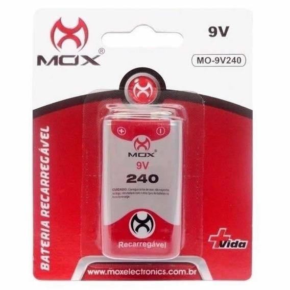 Bateria 9v Recarregável 240mah Ni-mh Mox Mo-9v240