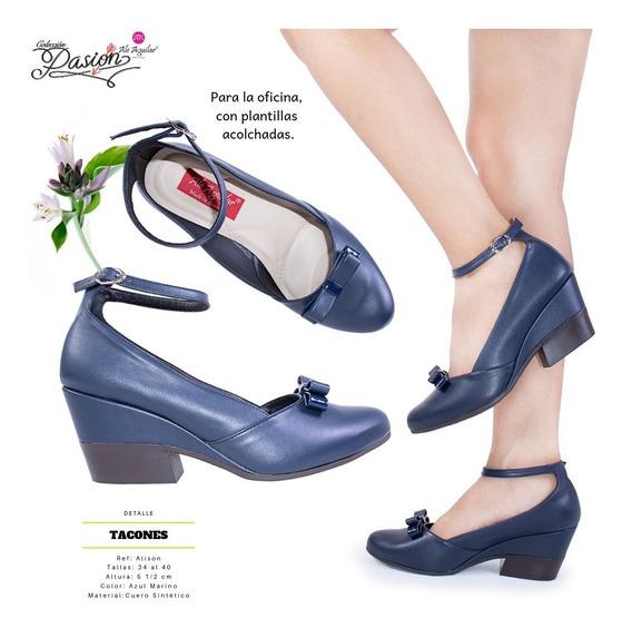 Zapatos Para Mujer Mini Tacos Tallas Desde 34 Hasta 40