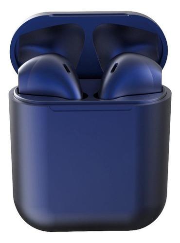 Fone De Ouvido In-ear Sem Fio I12 Tws Azul-escuro