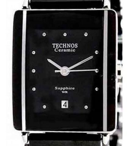 Relógio Feminino Cerâmica Safira Technos 1n12acpai/1p Preto