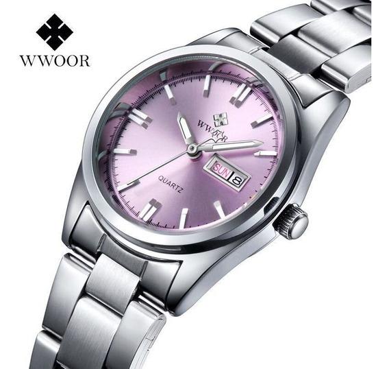 Wwoor Relógio Analógico Feminino Original Fashion