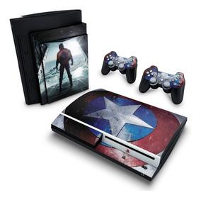 Skin Ps3 Fat Adesivo Playstation 3 Capitão America