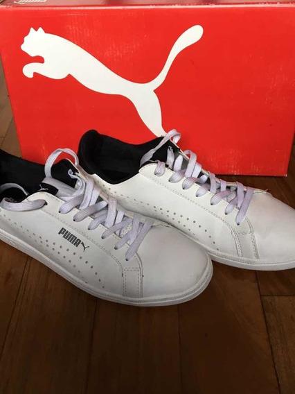 Zapatillas Puma Smash Perf Blancas Usadas
