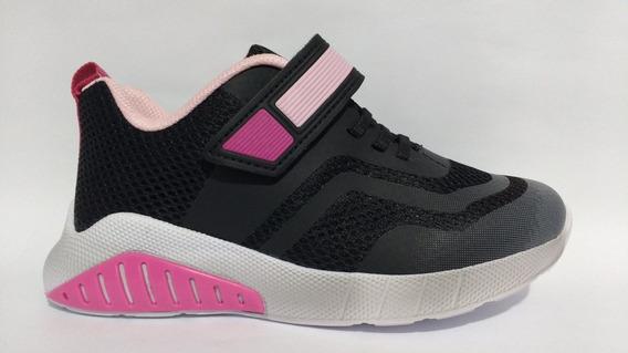 Tênis Bibi Evolution Infantil Preto Pink 1053007