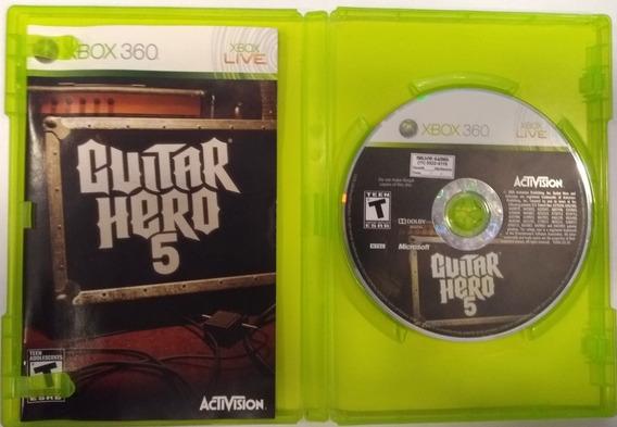 Jogo Guitar Hero 5 Xbox 360 Original Mídia Física