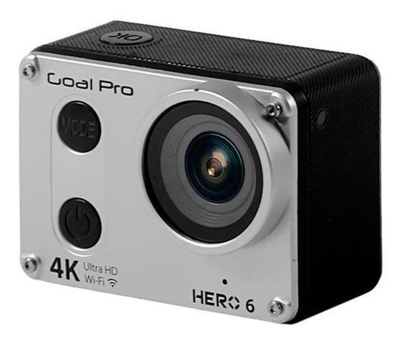 Camera De Ação Goal Pro Hero 6 Sport 4k Similar Gopro Com Lcd Wifi Brinde 32gb Classe 10