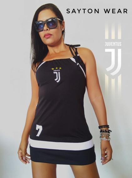 Vestido Feminino Da Juventus + Frete Gratis