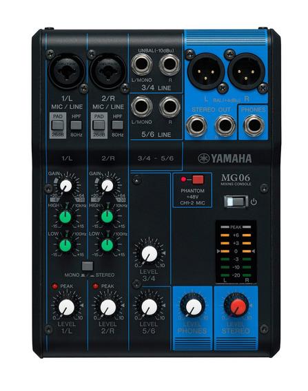 Mesa De Som Yamaha Mg06 6   Original   Garantia   Nfe