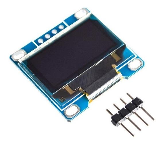 Display De Lcd Gráfico Oled 128x64 0.96 I2c Branco Arduino