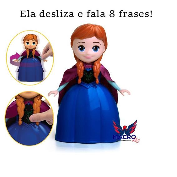 Boneca Da Frozen Anna Com Mecanismo 8 Frases 24 Cm Elka