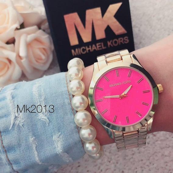Relógio Feminino Dourado E Rosa