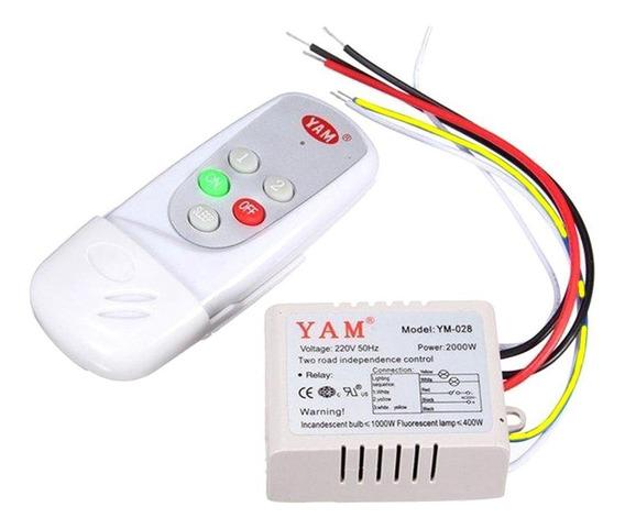 Kit Rele 2 Canais E Controle Remoto,ventilador ,lampada 220v