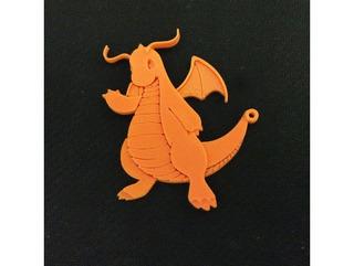 Chaveiro Dragonite Pokemon 5 Unidades Gamer