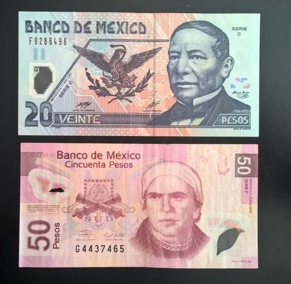 Billete Polimero 50 Y 20 Pesos Mismos De Las Fotos