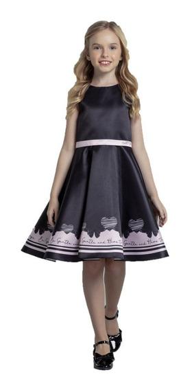 Vestido Infantil Festa Luxo Petit Cherie Black Pink 396