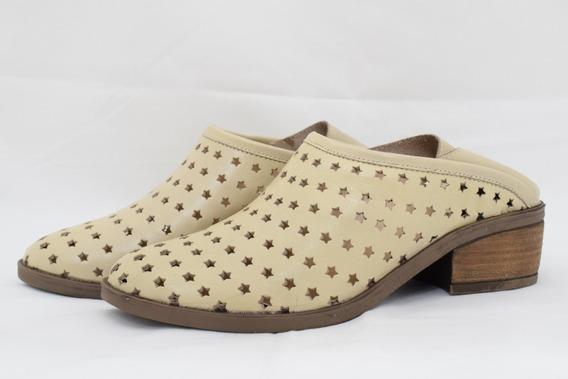 Zuecos Zapatos Mujer Cuero Moda Urbana Verano 2019 Art 30
