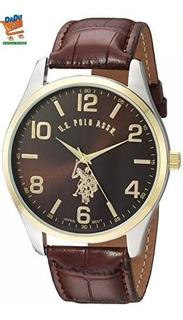 Reloj Polo Ass Original - Negro - Correa De Cuero - Elegante
