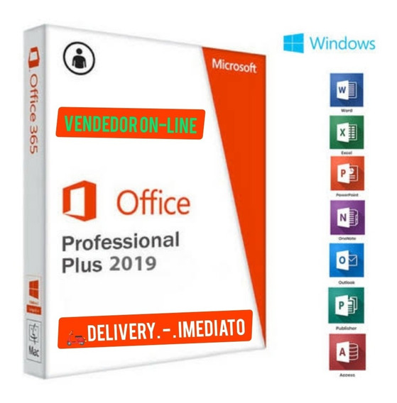 Pacote Office Pro Plus 2019 Key Original 32/64 Bits On Line.