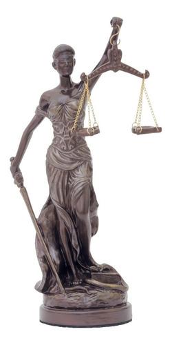 Dama Justicia Ciega Dorada Pequeña