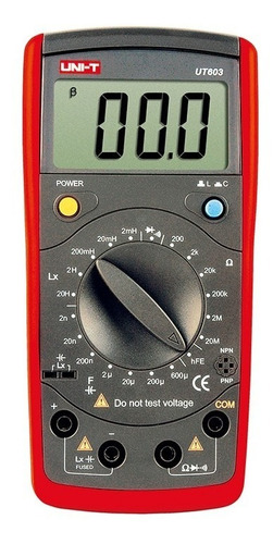 Uni-t Medidor Lcr Capacitor Inductor Hfe Ut603 Tester