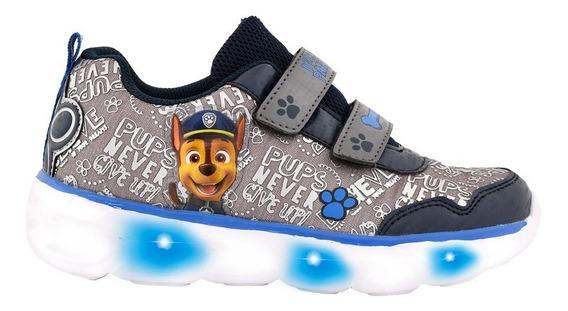 Zapatillas Footy Paw Patrol Gris Azul Con Luces Fty Calzados