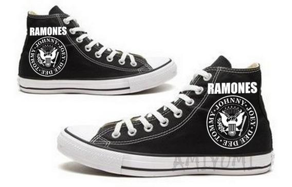 Tênis Ramones All Star Converse Botinha