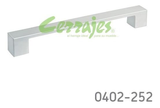 Jaladera Cuadrada 163mm (128mm Cc) 0402-252 Cerrajes
