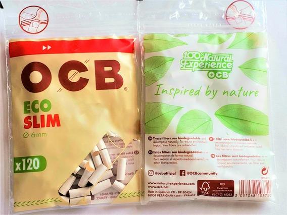 Filtro Ocb Organico Slim X 5 Bolsas C/bolsa De 120 Filtros