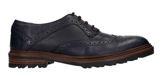 Zapatos Bostonianos Michel Domit De Piel Azul | Imst 22