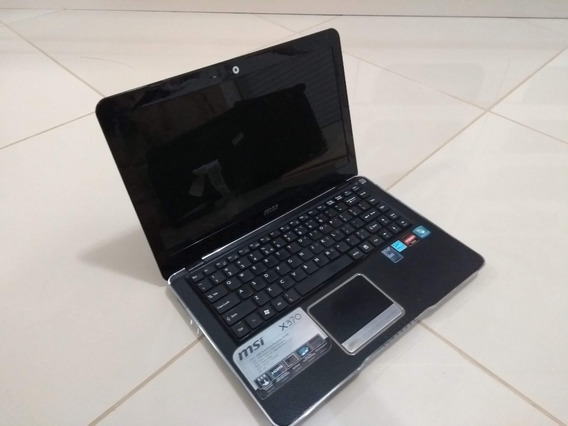 Notebook Preto Msi X370 Amd E350 1.6ghz Hd 500gb