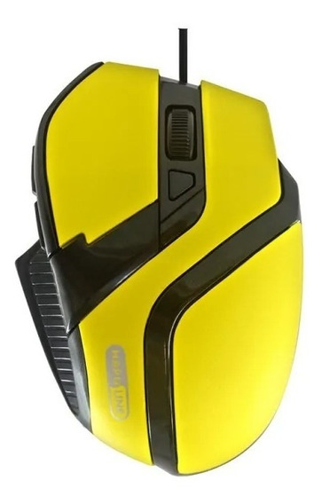 Ms26 - Mouse Usb Gaming Ms26 Amarelo E Preto