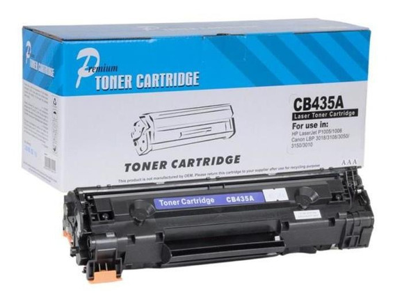 Toner 35a P1005 Cb435a Cb435ab 435a P1006 P1005 1006 2k Compatível Preto