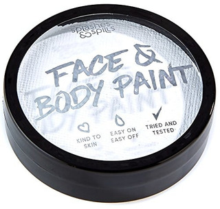 Pintura Corporal Y Facial Activada Con Agua - Blanco, Tina D