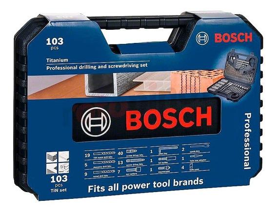 Set Para Taladrar Bosch 103 Piezas