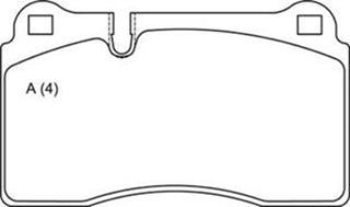 Pastilha Diant Brembo Touareg 3.2/4.2/5.0/6.0 Aro 18 --