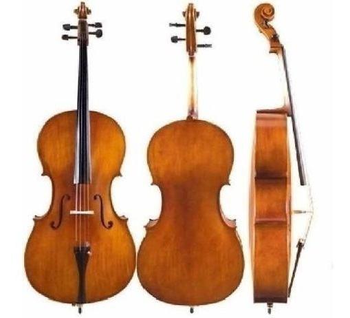 Cello Violonchelo Custom 1/2 Parquer+funda+arco+resina Cuota