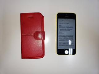 iPhone 5c Amarelo, Perfeito Estado Com Acessórios