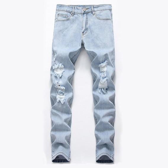 Pantalon Jeans Levanta Cola Corte Talle Alto Botones