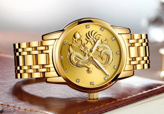 Relógio Guanqin De Luxo Para Homens De Bom Gosto