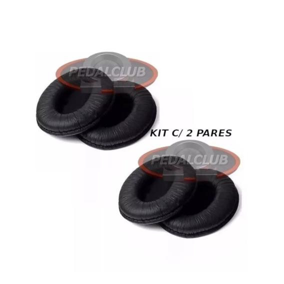 2 Kits Almofada Espuma Pad Fone Akg Y40 K412 K414 K416 K24