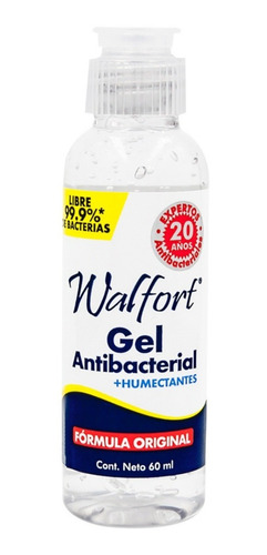 Gel Antibacterial Desinfectante Walfort 60 Ml -5 Pz
