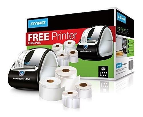 Dymo Labelwriter 450 Impresora Térmica+ 5 Rollos Multiusos