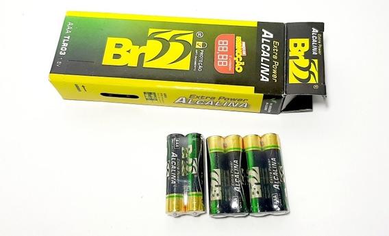 Pilha Extra Power Alcalina Aaa 1,5v Br55 Caixa 24 Unidades