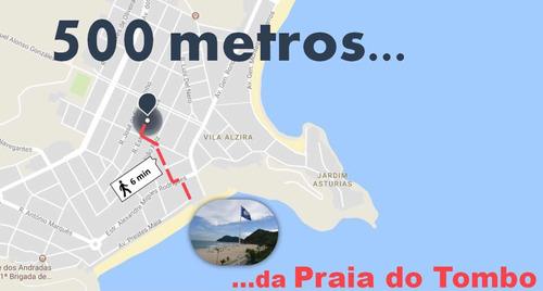 Imagem 1 de 14 de Apartamento Locação Guarujá Tombo Astrias - 1 Dormitório