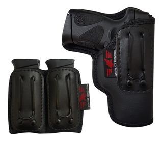 Coldre Para Pistolas G2c, 838c + Porta Carregador Velado Duplo
