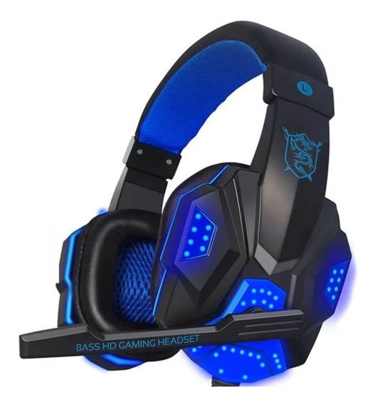 Headfone Gamer Led Usb Headset C/microfone Led