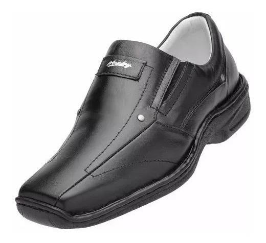 Sapato Couro Alcalay Relax Conforto Gel Ortopedico Esporão