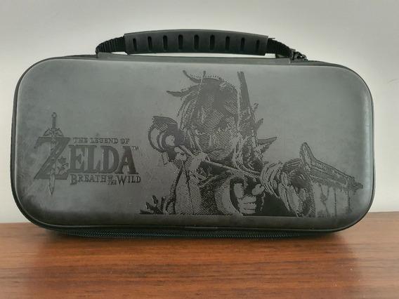 Case Travel Deluxe Zelda Couro Azul - Nintendo Switch